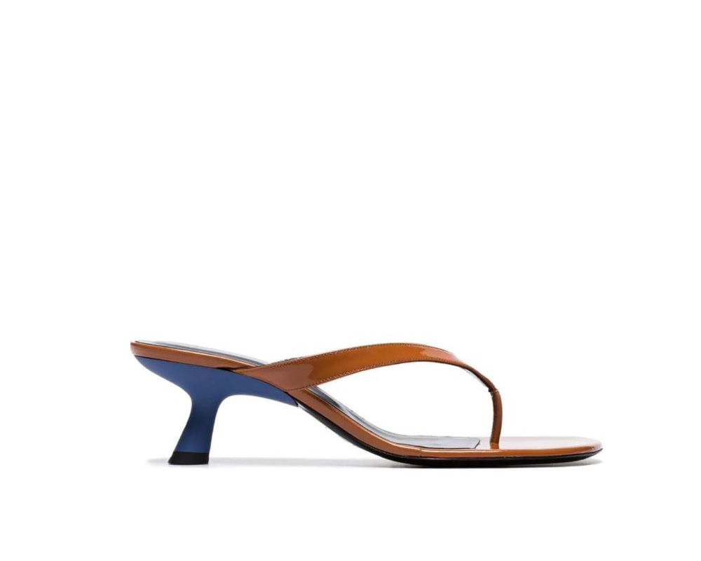 simon miller patent leather heeled flipflop